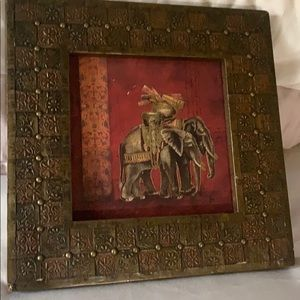 Elephants picture frame.